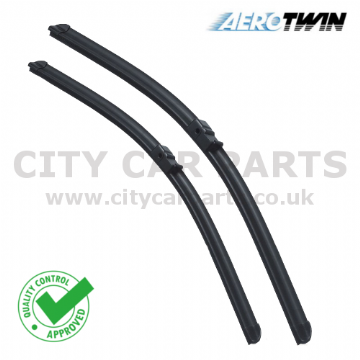 "JAGUAR X-TYPE 01-09 FRONT WINDSCREEN 22"" 19"" FLAT AERO WIPER BLADES TWIN SET"